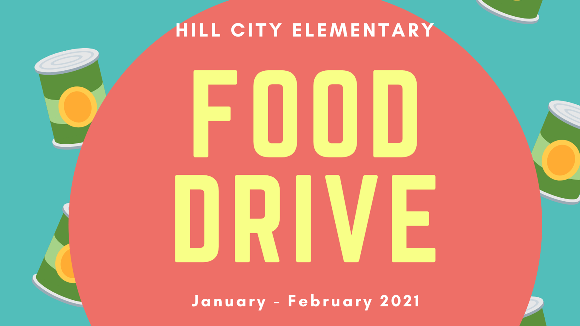 Food Drive - Extended to 3/31/2021